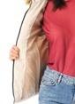 Vero Moda Kapüşonlu Şişme Mont Bej